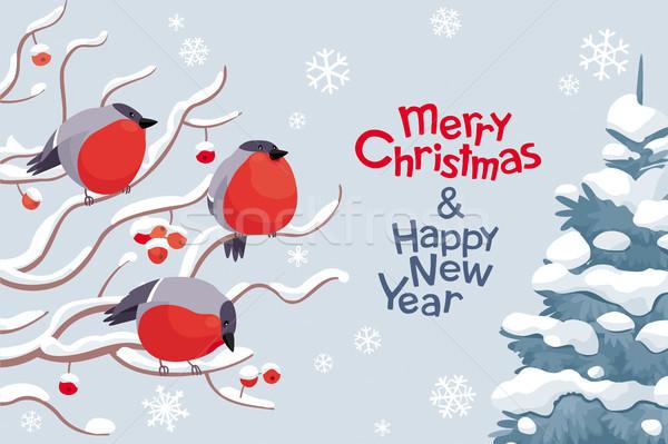 Vector christmas nieuwjaar afbeelding grappig boom Stockfoto © LisaShu