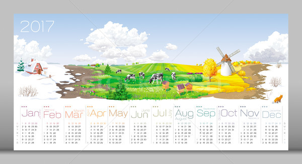 Four seasons Calendar 2017 Stock photo © LisaShu