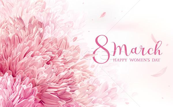 8 March flower greeting card Stock photo © LisaShu