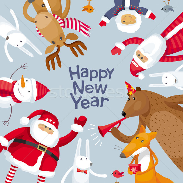 Merry Christmas vector image Stock photo © LisaShu