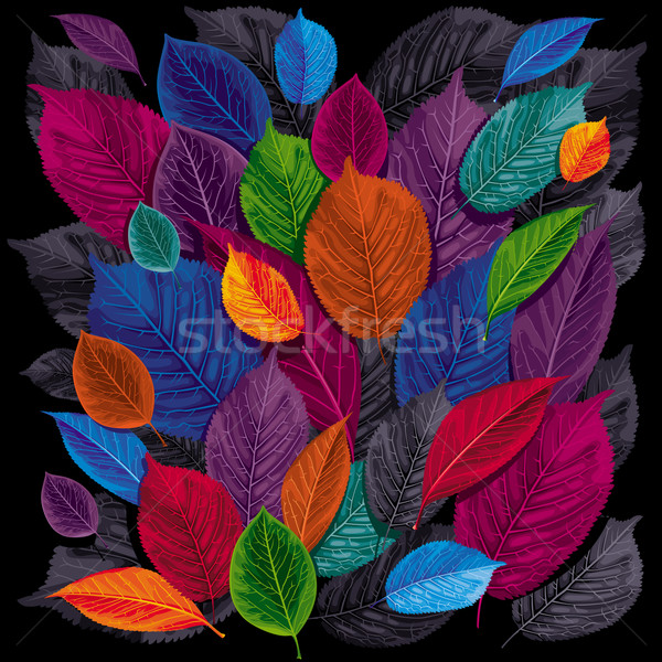 Dark leaves background Stock photo © LisaShu