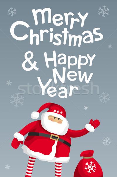 Vrolijk christmas vector ontwerpsjabloon gelukkig nieuwjaar kaart Stockfoto © LisaShu