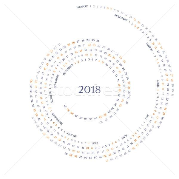 Vector kalender grid jaar nummers creatieve Stockfoto © LisaShu