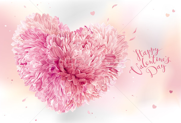 Pink Flower Heart  for Valentine's Day Stock photo © LisaShu
