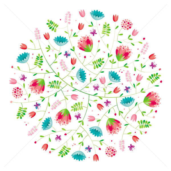 Flower round composition Stock photo © LisaShu
