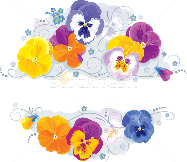 Pansies and forget-me-not Stock photo © LisaShu