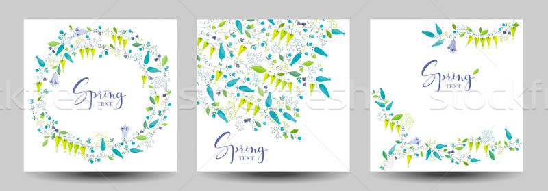 Spring flower vector greeting cards Stock photo © LisaShu