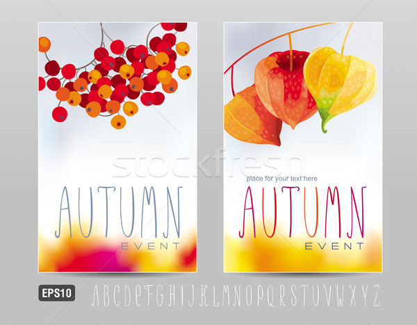 Autumn posters Stock photo © LisaShu
