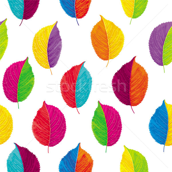 Colorful leaves vector seamless background  Stock photo © LisaShu