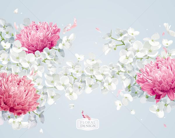 Alma virág virágmintás vektor virág vektor vízfesték Stock fotó © LisaShu