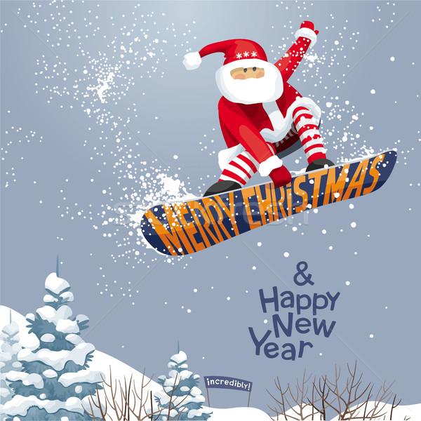 Vrolijk christmas gelukkig nieuwjaar vector Stockfoto © LisaShu