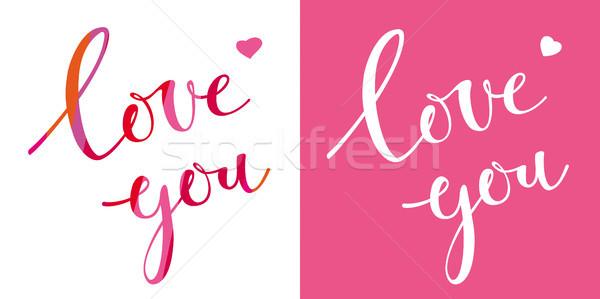 Liefde vector ontwerpsjabloon valentijnsdag kaart Stockfoto © LisaShu