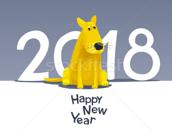 Yellow dog 2018 Stock photo © LisaShu