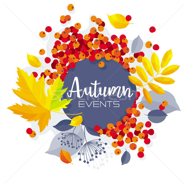 Autumn foliage vector sale banner Stock photo © LisaShu