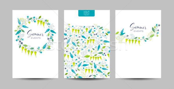 Bloemen kruiden vector ingesteld gestileerde composities Stockfoto © LisaShu