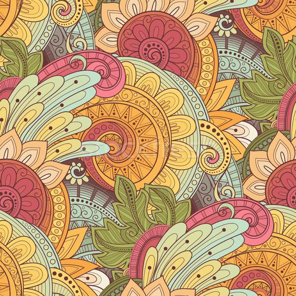 Vector naadloos patroon textuur Stockfoto © lissantee