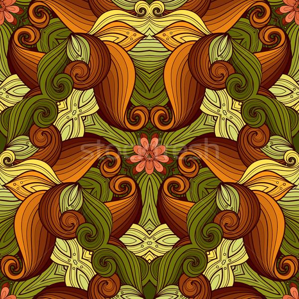 Vektor végtelenített színes díszes minta kézzel rajzolt Stock fotó © lissantee