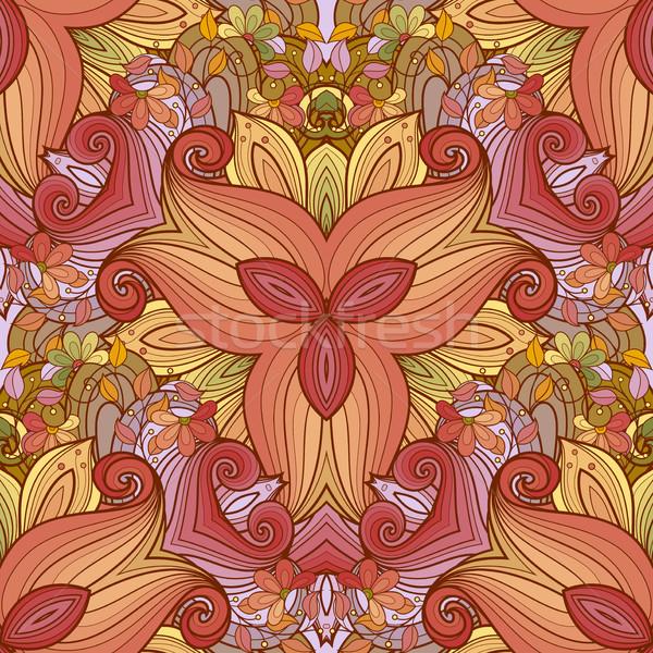Vector naadloos gekleurd patroon Stockfoto © lissantee