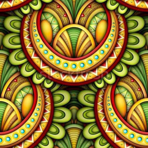 Ethnischen Motive unendlich Textur Stock foto © lissantee