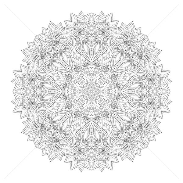 Vector hermosa monocromo mandala Foto stock © lissantee
