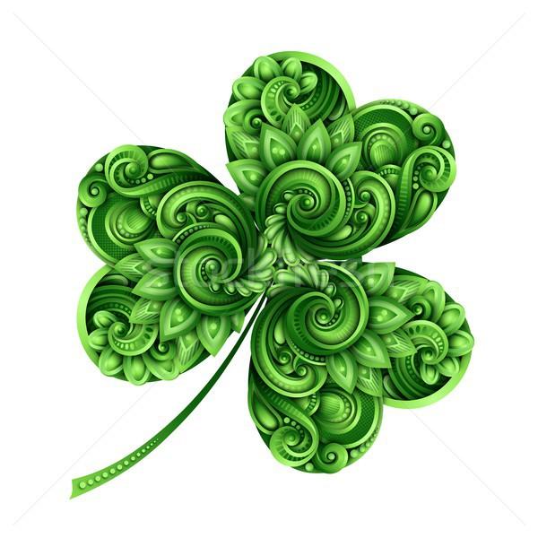 Decorative Clover Leaf Talisman Stock photo © lissantee