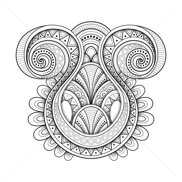 монохромный декоративный абстракция племенных аннотация Сток-фото © lissantee