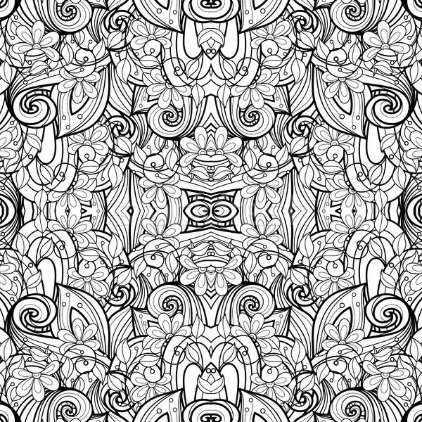 Vector sin costura resumen blanco negro tribales patrón Foto stock © lissantee