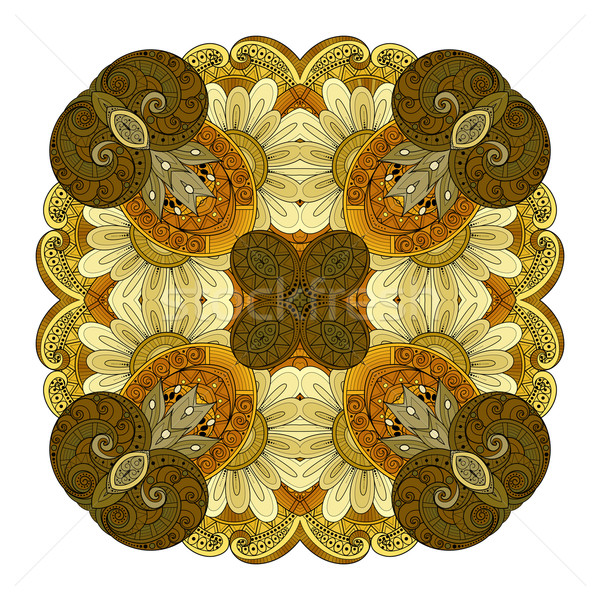 Vector Beautiful Deco Colored Contour Square Stock photo © lissantee