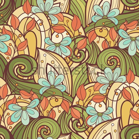 Vector Colored Floral Background Stock photo © lissantee