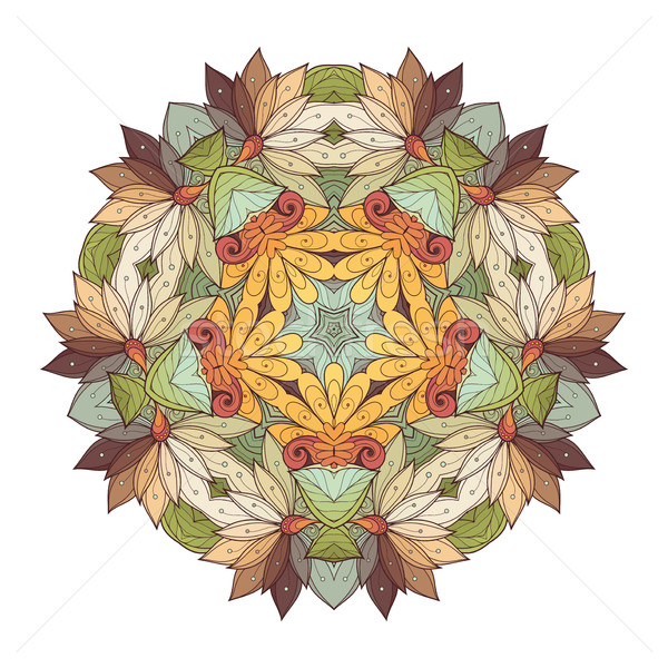 Vector Beautiful Deco Colored Contour Star Stock photo © lissantee