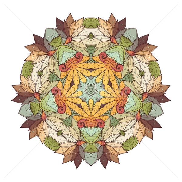 Vektor gyönyörű színes körvonal csillag dizájn elem Stock fotó © lissantee