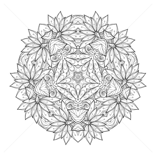Vector Beautiful Deco Monochrome Contour Star Stock photo © lissantee