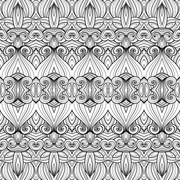 Vector sin costura monocromo patrón dibujado a mano Foto stock © lissantee