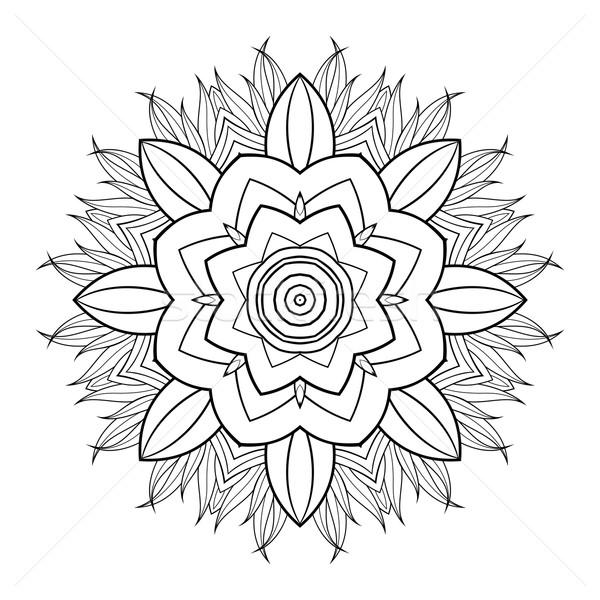 商业照片: 向量 · 美丽 · 黑色 · 曼陀罗 · 设计元素 · 民族