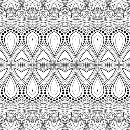 вектора бесшовный монохромный шаблон рисованной Сток-фото © lissantee