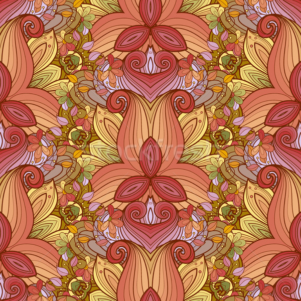 Vector Seamless Colored Ornate Pattern Stock photo © lissantee