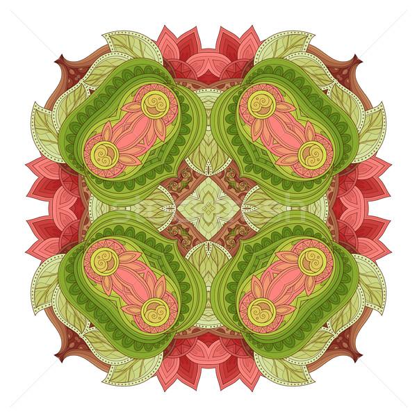Stockfoto: Vector · mooie · gekleurd · contour · vierkante