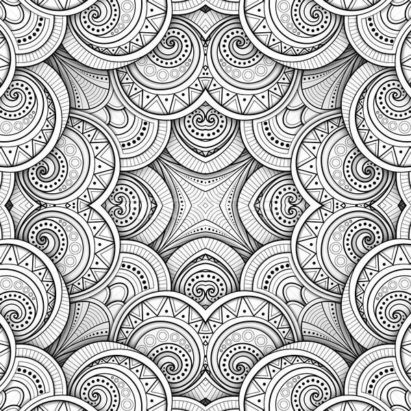 Monocromático sem costura telha padrão caleidoscópio Foto stock © lissantee