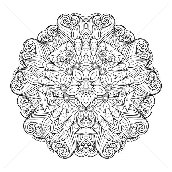 Vetor belo monocromático contorno estrela Foto stock © lissantee