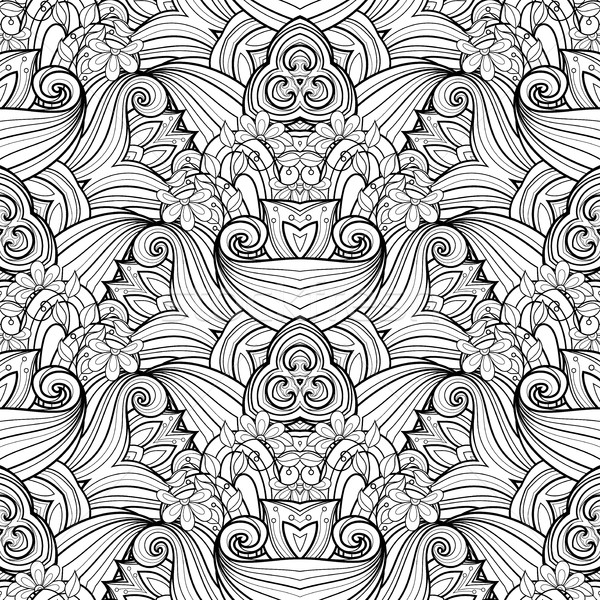 Vector Seamless Monochrome Ornate Pattern Stock photo © lissantee