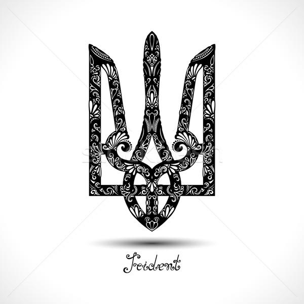 Vector Decorative Ukrainian Trident Stock photo © lissantee