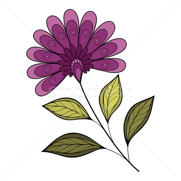 Vektör eps güzel renkli çiçek Stok fotoğraf © lissantee