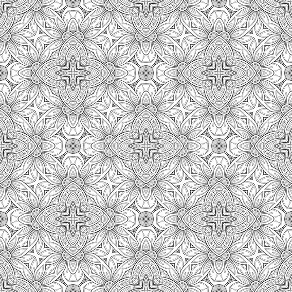 Vector Seamless Vintage Black and White Lace Pattern Stock photo © lissantee