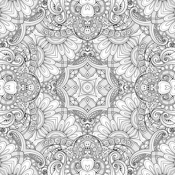 Monochrome Seamless Pattern with Tribal Ornament Stock photo © lissantee