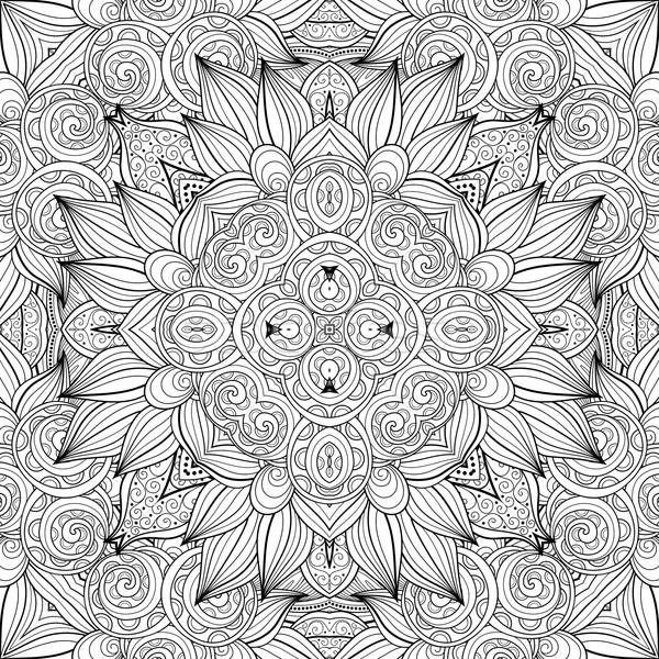 Vetor sem costura abstrato preto e branco tribal padrão Foto stock © lissantee