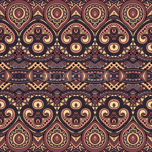 Vettore senza soluzione di continuità abstract tribali pattern Foto d'archivio © lissantee