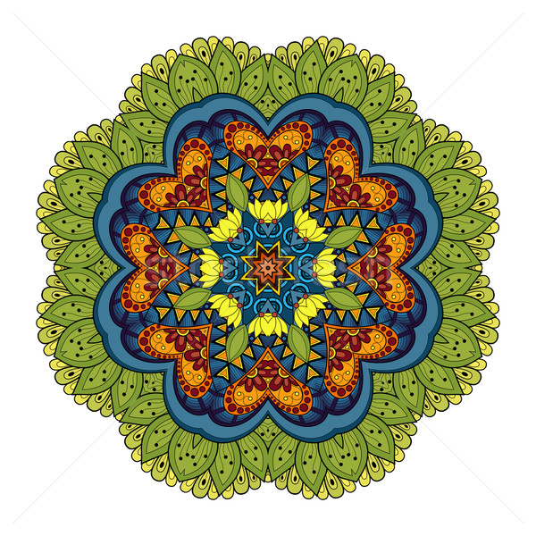 Vector Beautiful Deco Colored Mandala Stock photo © lissantee