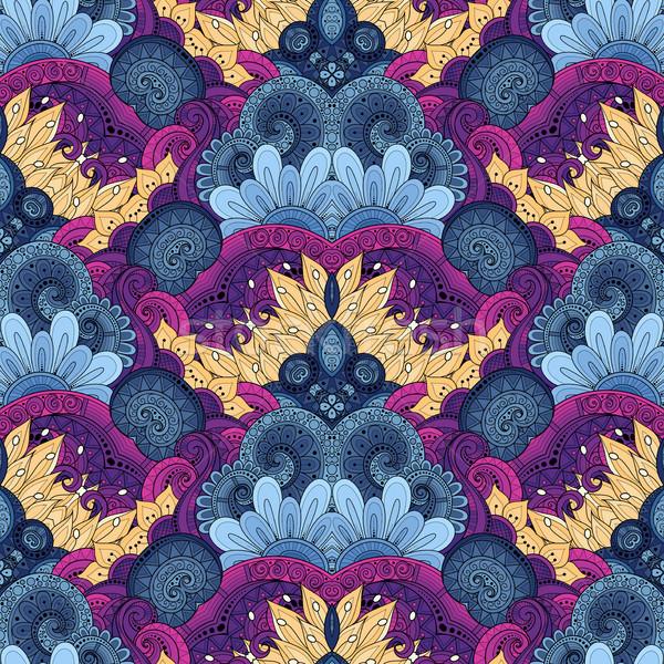 Vector naadloos patroon damast Stockfoto © lissantee
