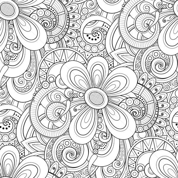 Monocromático floral motivos textura Foto stock © lissantee