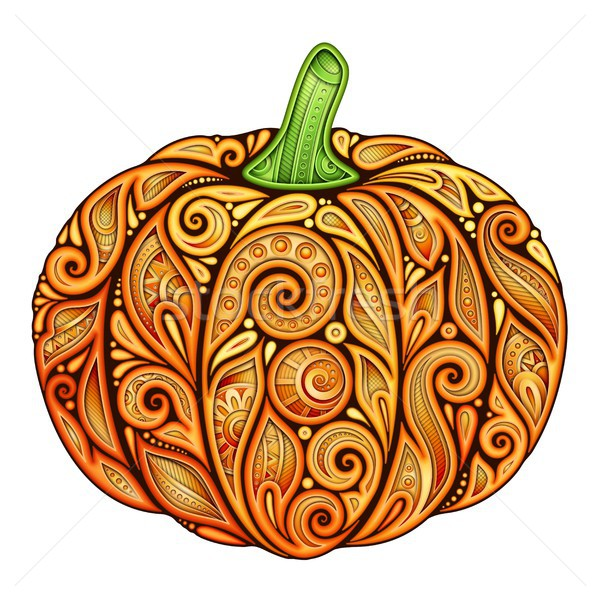 Colored Decorative Pumpkin Stock photo © lissantee
